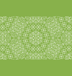 vintage swirl greenery seamless pattern background vector image vector image