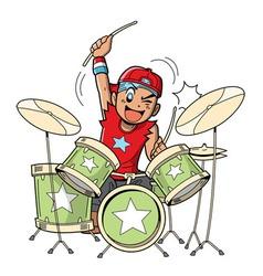 Anime Manga Drummer vector image