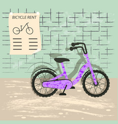 bicycle rent vector image