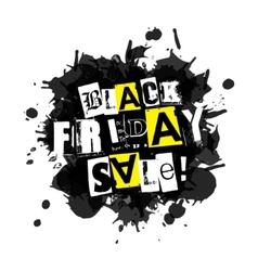Black Friday Sale blot icon White background vector image