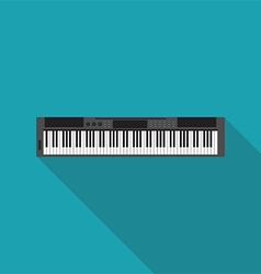electronic piano music instrument flat design vector image vector image