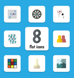 flat icon play set of arrow people ace and other vector image