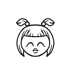 thin line kiss icon vector image