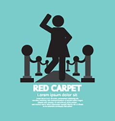 Woman Walking On Red Carpet Symbol vector image