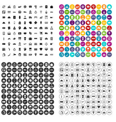 100 paying money icons set variant vector image