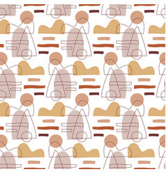 Abstract geometric modern seamless pattern vector