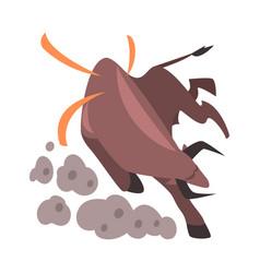 Angry fighting bull spanish corrida performance vector