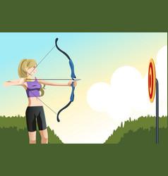 archer woman vector image