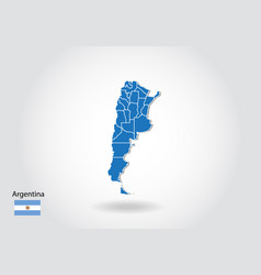 argentina map design with 3d style blue argentina vector image