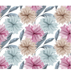 Art floral seamless pattern pale flowers vector