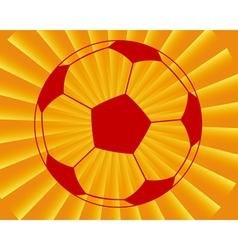 Ball for football vector