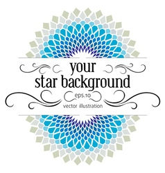 Blue stylish background vector