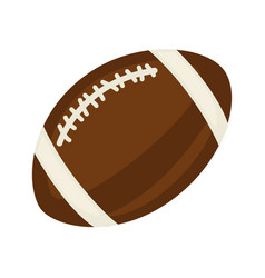 Brown ball for rugby vector
