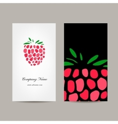 Business card template raspberry design vector