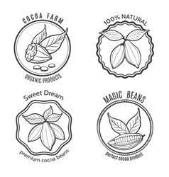 Cacao logo set vector