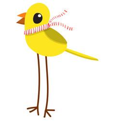 Cartoon yellow bird vector