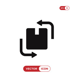 Change box icon vector