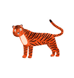 childish portrait funny tiger in scandinavian vector image
