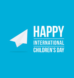 childrens day art background vector image
