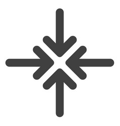 Collapse arrows flat icon symbol vector