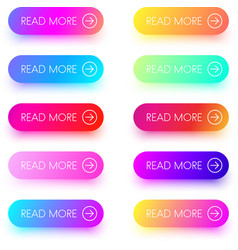 colorful read more icons isolated on white vector image
