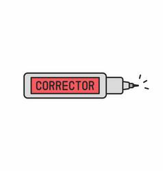 corrector pen icon vector image