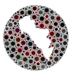 covid19 virus stencils circle andros island vector image