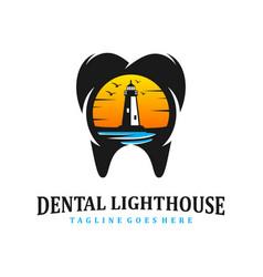 dental lighthouse clinic vector image