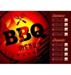 Design BBQ menu vector image