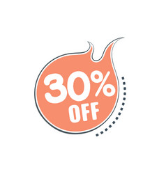 discount sticker sale vector image