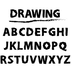 drawing sketch alphabet Handwritten font vector image