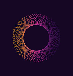 Dynamic gradient circle shape abstract modern vector