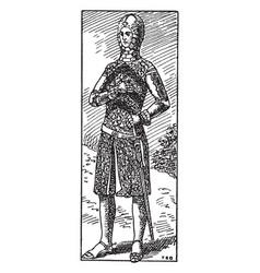 Earl gilbert de clare of gloucester vintage vector