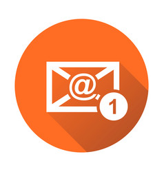 email envelope message in flat style on round vector image