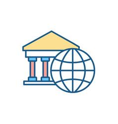 Embassy rgb color icon vector