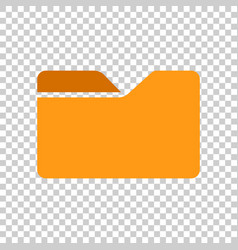 File folder icon in transparent style documents vector