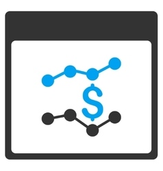 Financial Charts Calendar Page Toolbar Icon vector