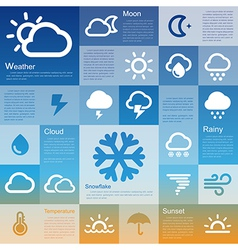 Flat design interface icon set 3 vector image