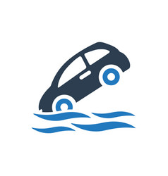 Flood insurance icon vector