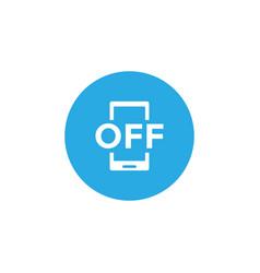 forbidden phone icon design template vector image