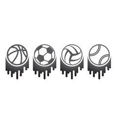 four balls brush set vector image