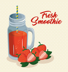 Fruit smoothie icon vector