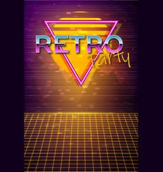 futuristic background 80s style retro party vector image