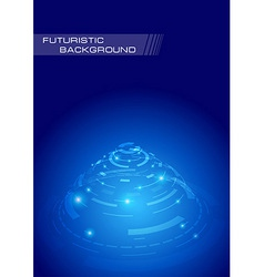 Futuristic background concept - perspective layout vector