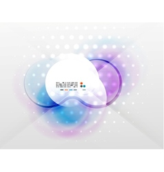 futuristic blurred hi-tech shapes vector image