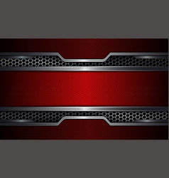 Geometric background red frame with metal grille vector