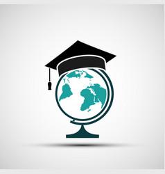 globe with rogatywka vector image