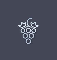 Grape logo icon vector