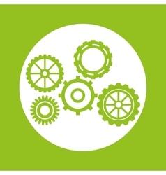 Green gears object design vector