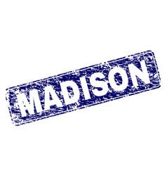 Grunge madison framed rounded rectangle stamp vector